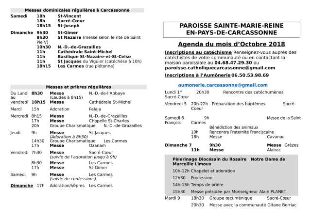 messe de noel 2018 carcassonne Sainte Marie Reine en Pays de Carcassonne – Paroisse de Carcassonne messe de noel 2018 carcassonne