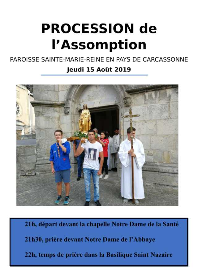 Affiche procession Assomption 2019-1
