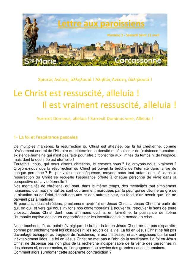 Lettre aux paroissiens - 2-1