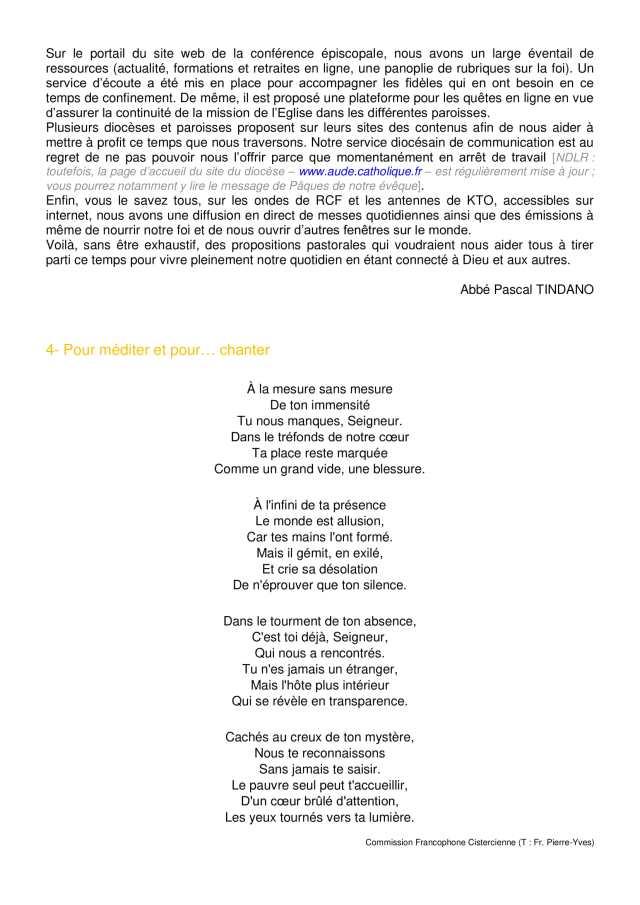 Lettre aux paroissiens - 2-4