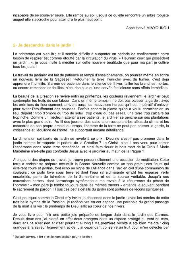 Lettre aux paroissiens - 3-2