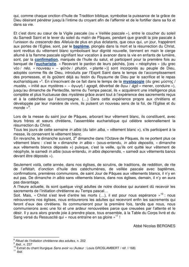 Lettre aux paroissiens - 3-5