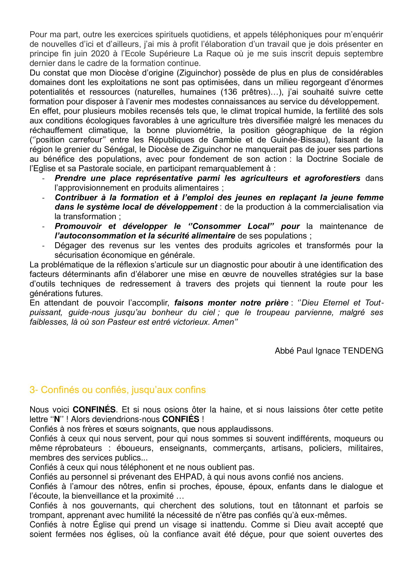Lettre aux paroissiens - 5-2