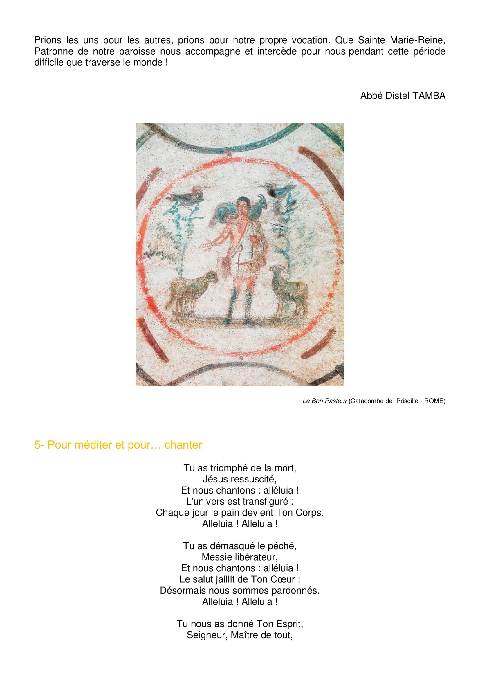Lettre aux paroissiens - 5-4