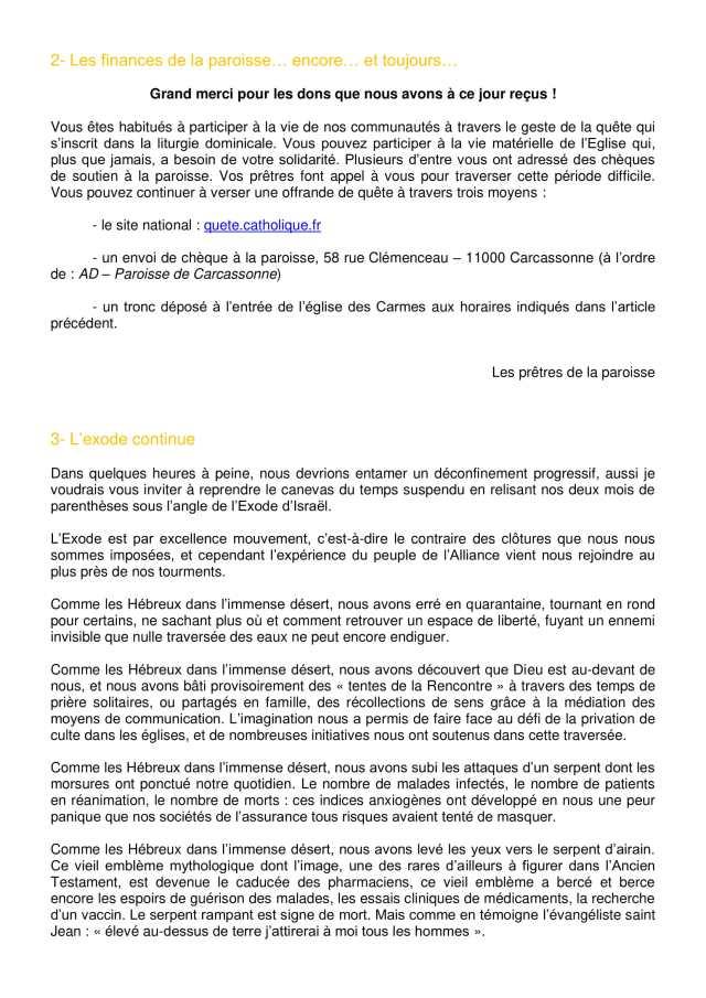 Lettre aux paroissiens - 6-2