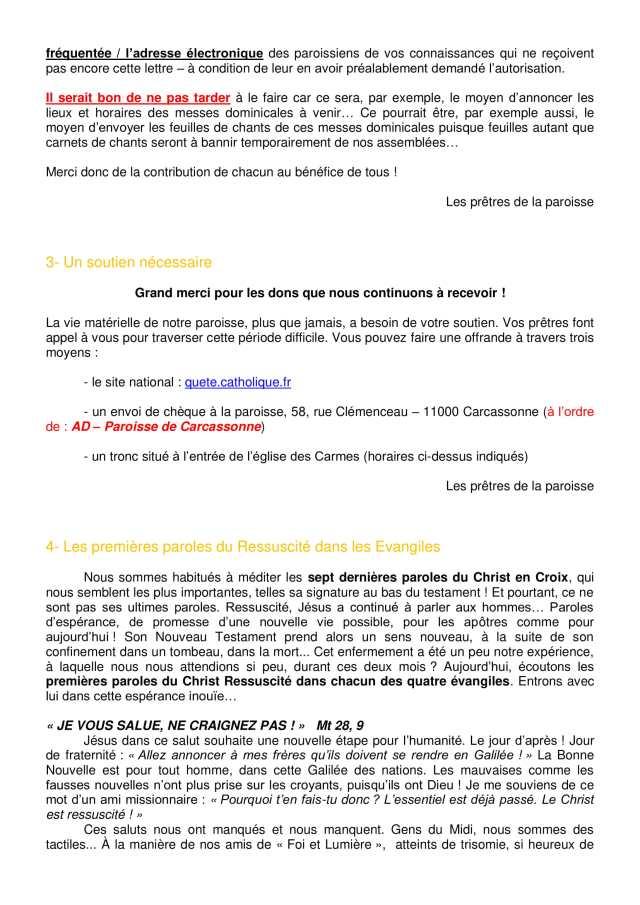 Lettre aux paroissiens - 7-2