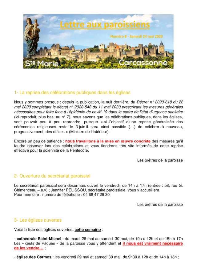 Lettre aux paroissiens - 8-1