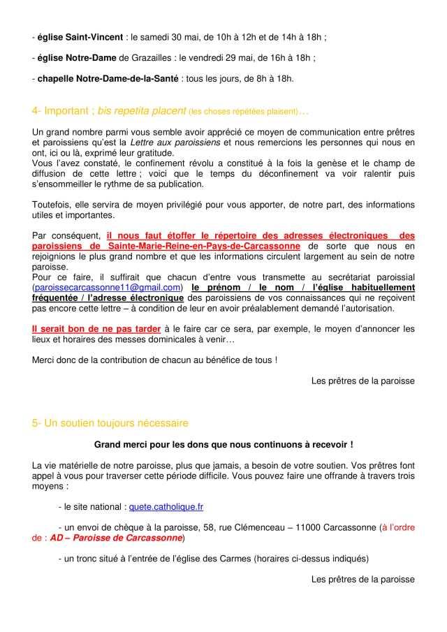 Lettre aux paroissiens - 8-2