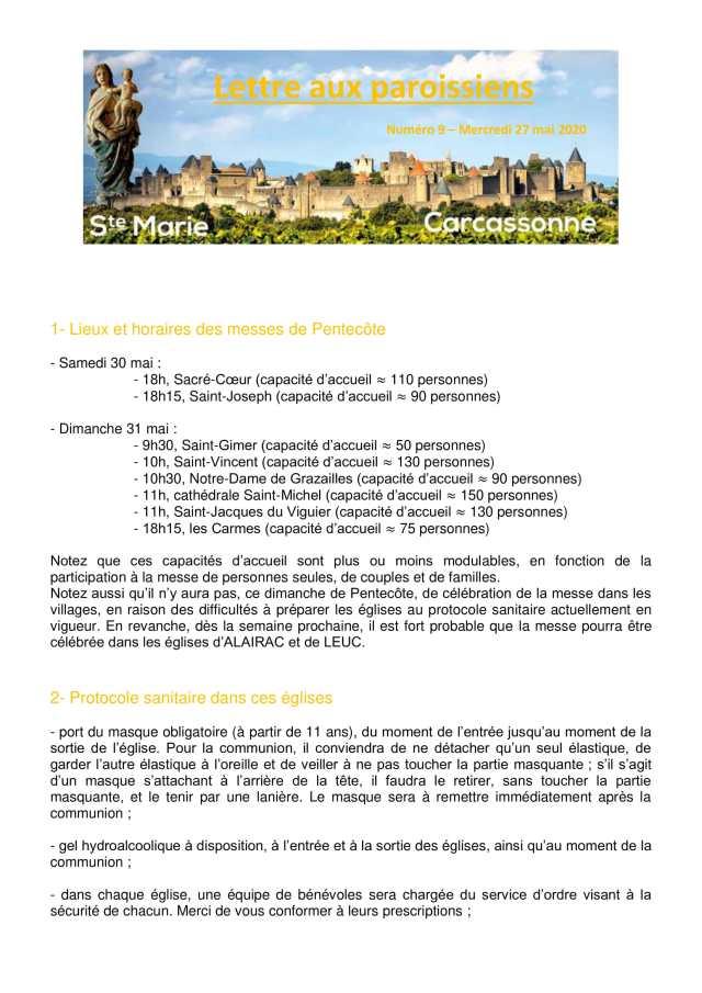 Lettre aux paroissiens - 9-1