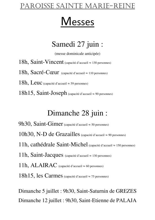 Affiche messe du 27 et 28 juin 2020 PDF-1