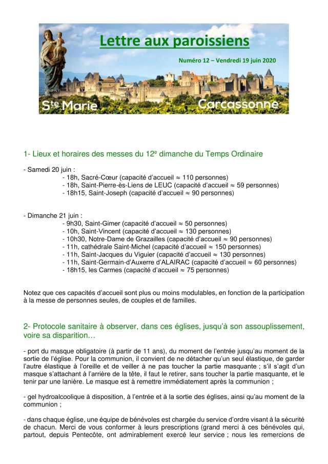 Lettre aux paroissiens - 12-1