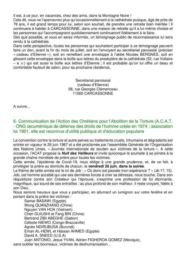 Lettre aux paroissiens - 12-3